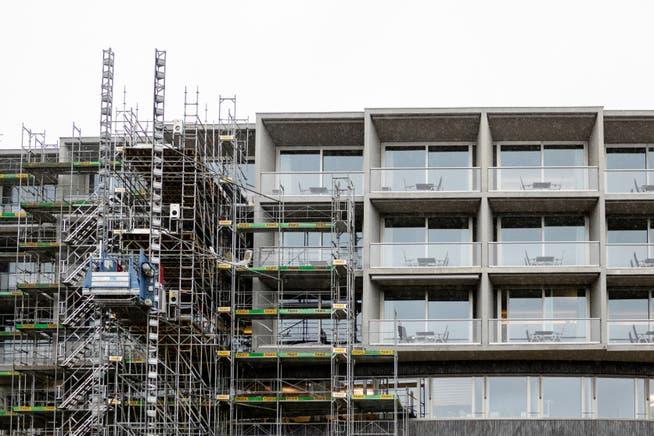 Gegen den Neubau des Bettenhauses (das Bild stammt von den Bauarbeiten im März 2019) ging keine einzige Einsprache ein.