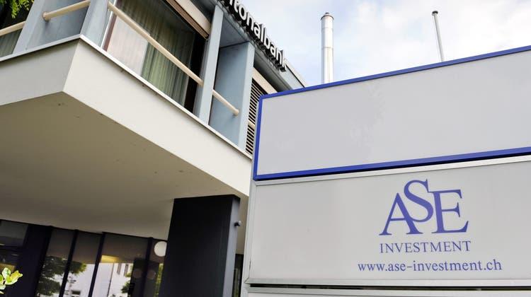 In Frick war die ASE Investment zu Hause. (Walter Bieri / KEYSTONE)