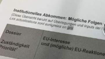 Das Schweizer Radio SRF machte das Geheimpapier am Donnerstag publik. (Screenshot srf.ch)