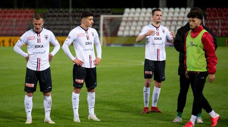 Der FC Aarau unterliegt Lausanne-Ouchy im letzten Spiel der Saison deutlich mit 0:3. (freshfocus)
