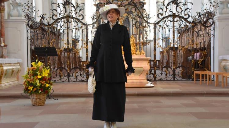 Stadtführerin Susanne Ammann trat in der Stadtkirche als Madame Louise de Sancerre auf. (Horatio Gollin)