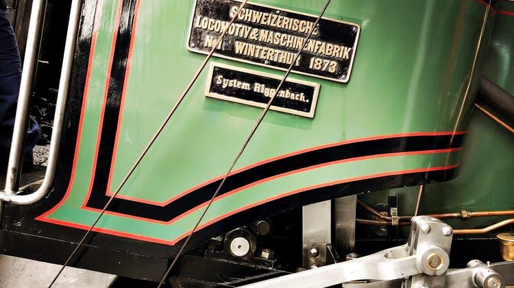 Die Dampflokomotive Nr. 7, gebaut nach «System Riggenbach», das erste von der Schweizerischen Lokomotiv- und Maschinenfabrik SLM in Winterthur gebaute Fahrzeug. (Katja Schlegel / Aargauer Zeitung)