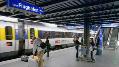 Ein ICN im FlughafenbahnhofKloten. (Martin Ruetschi/Key)