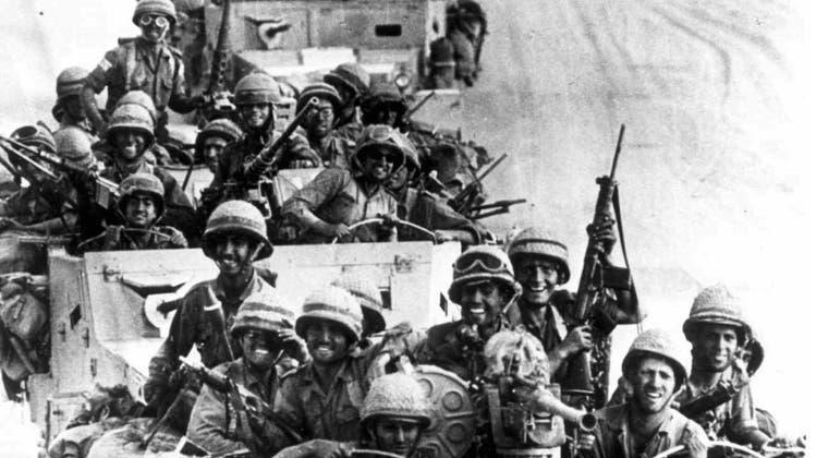 Sechstagekrieg: Israelische Truppen auf dem Vormarsch. (Keystone)