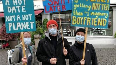 Sternmarsch auf Baden – die Aargauer Klimajugend demonstriert trotz Pandemie