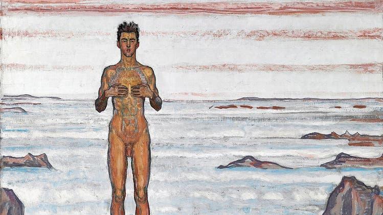 Eros und Frösteln – in der Schweiz ist Erotik kalt: «Blick ins Unendliche III» von Ferdinand Hodler (1903). Eine Wucht in Öl, Höhe 1 Meter. Modell steht Hodlers Sohn. (Bild: Musée cantonal des Beaux-Arts de Lausanne)