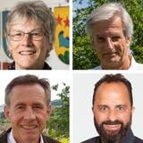 Das sind die Kandidierenden für den Gemeinderat Villnachern‒ im Uhrzeigersinn: Fritz Schweizer, Marianne Möckli, Stephan Breitenmoser, Daniel Schnyder, Roland König und Richard Zickermann. (Bilder: zvg)