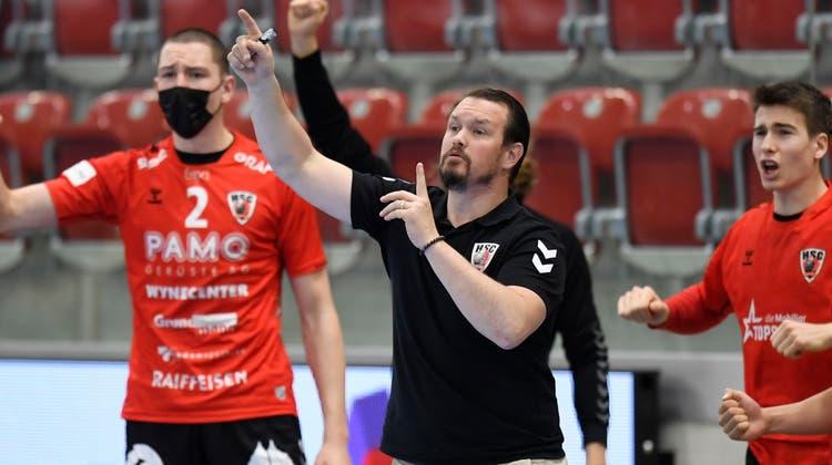 Misha Kaufmann führte seine Mannschaft mit 3:1 Siegen in den Playoff-Halbfinal gegen Pfadi Winterthur. (Alexander Wagner / FOTO Wagner)