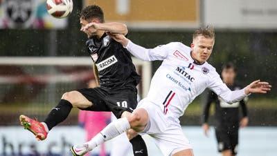 Mats Hammerich verlässt den FC Aarau nach 114 Pflichtspiel-Einsätzen seit 2016. (Alexandra Wey / KEYSTONE)