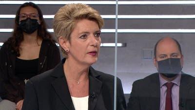 Bundesrätin Karin Keller-Sutter. (SRF)