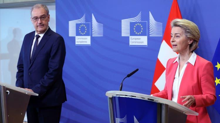 Wird der Bundesrat die Verhandlungen zum Rahmenabkommen mit der EU abbrechen? (EPA)