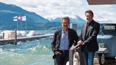 Die Unternehmer Pascal Rast (links) und Kurt Seiler, Chief Medical Officer.