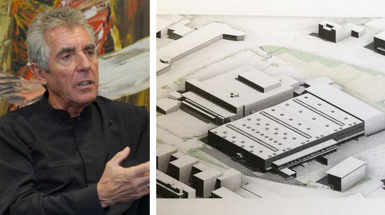 Der «Office Depot»-Komplex (vorne Mitte) neben der Traitafina soll für 22,5 Mio. Fr. umgebaut werden. (Auszug aus dem Baugesuch)