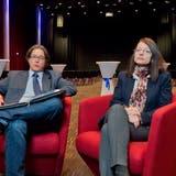 Armin Baumann und Kathrin Kalt haben die Veranstaltungen im Campussaal von Anfang an gemanagt. (efu (Brugg-Windisch, 10. März 2014))