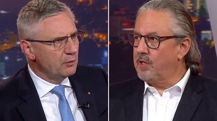 Aargauer Duell um das Covid-Gesetz: Glarner wirft das Abstimmungsbüchlein durchsStudio –Flach warnt vor Folgen eines Neins