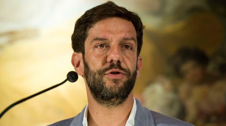 Mario Timbal 2017 an einer Medienkonferenz zum Locarno Filmfestival. (12. Juli 2017) (Keystone)