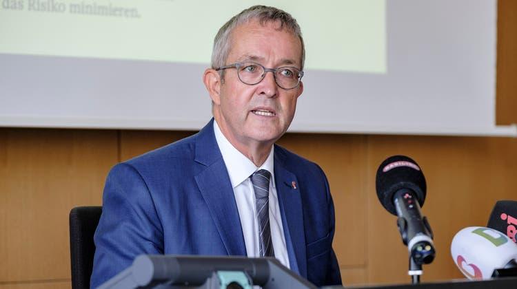 Unter Druck: Der Baselbieter Volkswirtschaftsdirektor soll in den Jahren 2014 und 2015 zu hohe Zahlungen an die vom Kanton mandatierte Schwarzarbeitskontrolle durchgedrückt haben. (Bild: Kenneth Nars)