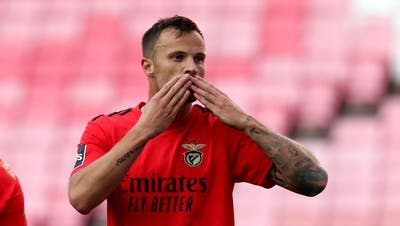 Haris Seferovic, Benfica Lissabon, 48 Einsätze (3066 Spielminuten), 26 Tore. (Pedro Fiuza/Freshfocus / Zuma)