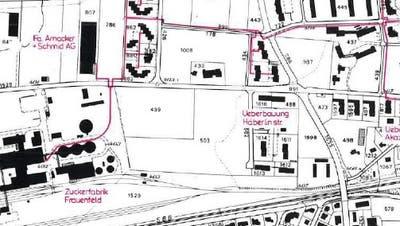 Das aktuelle Versorgungsgebiet des Wärmeverbunds in Frauenfeld-West. (Bild: PD)