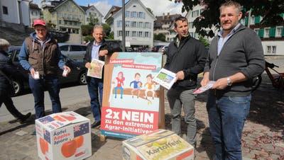 V.l.n.r.: Adrian Z'Rotz, Sepp Odermatt, Daniel Blättler und Beat Risi. (Bild:Ruedi Wechsler (Stans, 22. Mai 2021))
