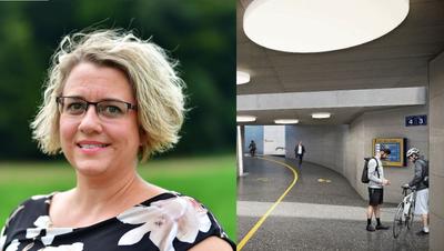 Daria Hof ist Gemeindepräsidentin von Wangen bei Olten seit 2017.In der neuen Unterführung gäbe es separate Verkehrsbereiche für Velos und Fussgänger. (Zvg)