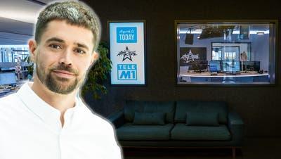 Florian Wanner,Leiter Radio CH Media, freut sich auf den Start der neuen Newsplattform ArgoviaToday. (Bild: Thomas Buchwalder)
