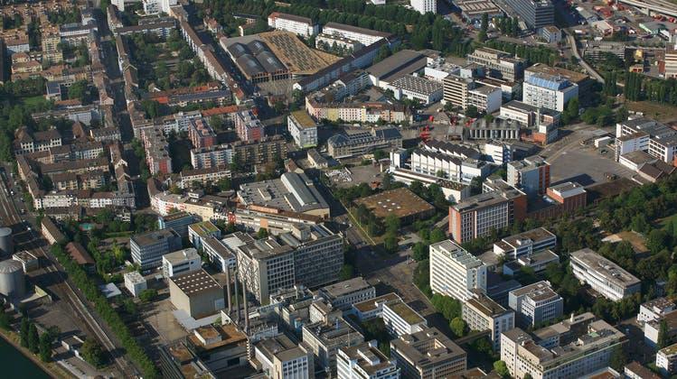 Luftaufnahme vom Klybeck-Areal in Basel. (Erich Meyer / BLZ)