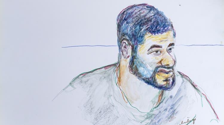 Porträtzeichnung des Häftlings Brian (bekannt als Carlos). (Archivbild Keystone)