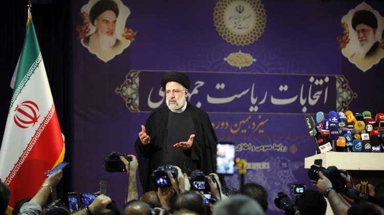Hat Blut an seinen Händen: der wahrscheinliche nächste Präsident des Iran, Ebrahim Raisi. (EPA)