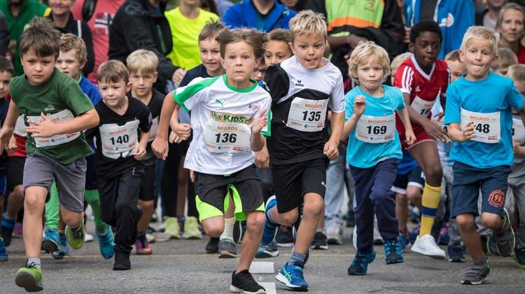 Am Amriswiler City-Run 2019 nahmen viele Kinder teil. (Bild: Reto Martin)