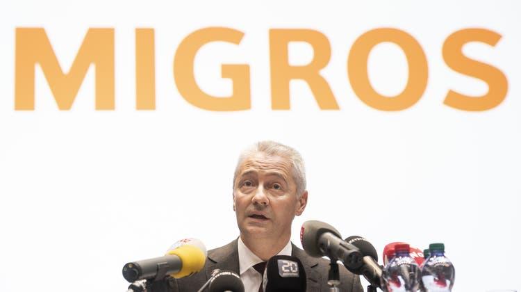 Fabrice Zumbrunnen, Präsident der Generaldirektion des Migros-Genossenschafts-Bundes stimmt am 13. Juni zwei Mal Nein bei den Umwelt-Initiativen. (Bild: Ennio Leanza / KEYSTONE)