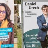 Annabelle Lutgen(FDP) und Daniel Urech (Freie Wähler) liefern sich eine Kampfwahl ums Dornacher Gemeindepräsidium. (Nicole Nars-Zimmer)