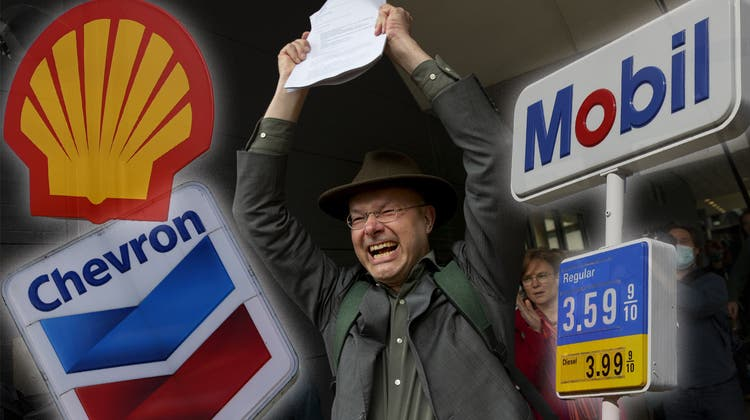 Donald Pols macht die Becker-Faust. Er hat soeben Royal Dutch Shell in die Knie gezwungen. (Keystone)