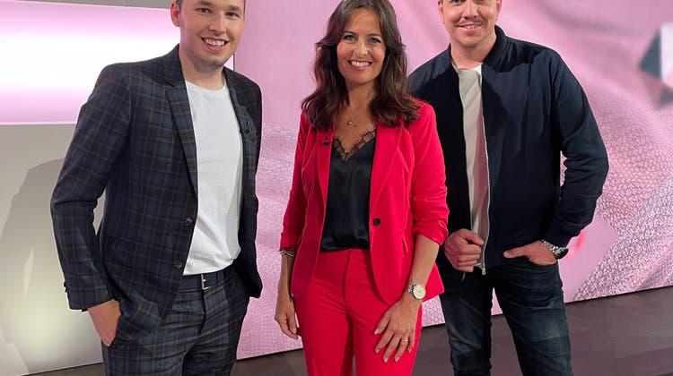 Am Samstagabend empfing Joel Grolimund für den Countdown zum ESC Sandra Studer und Sven Epiney, welche die Show moderierten. (zvg)