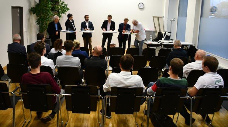Die Jungen sind politisch interessiert: Im September 2019 organisierte das Aargauer Jugendparlament in Brugg ein Podium zu den Nationalratswahlen. (Bild: Janine Müller)