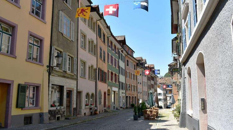 Die Werkleitungen in einem weiteren Bereich der Altstadt Laufenburg sollen saniert werden. (Nadine Böni (Juni 2019))