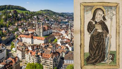 St.Gallen von oben mit dem Stiftsbezirk. (Bild: Shutterstock)