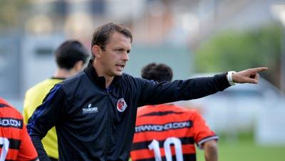Bozo Predojevic steigt am Ende seiner zweiten Saison als Trainer des FC Wangen bei Olten in die 2. Liga inter auf. (Hans Peter Schläfli)