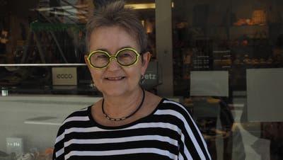 Cecile Knecht, Besitzerin von Knecht Schuhe. (Foto: Simon Widmer / Aargauer Zeitung)