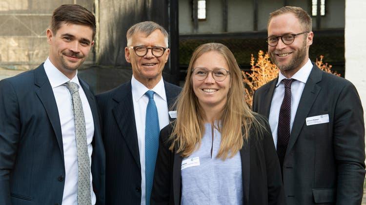Vl. Florian Wanner, Peter Wanner, Anna Wanner, Michael Wanner im Mai 2019 (Alex Spichale)