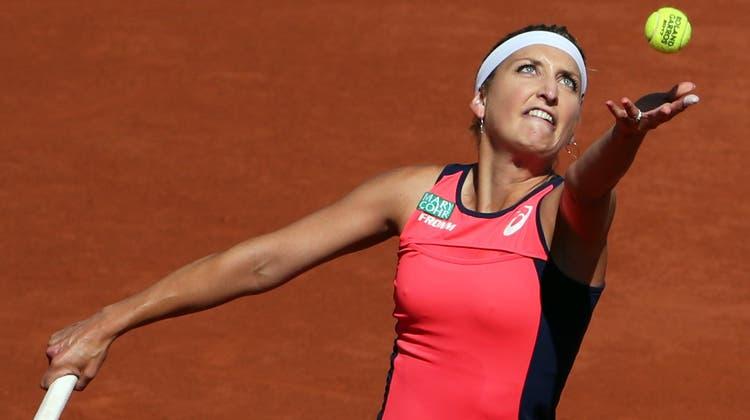 Timea Bacsinszky beim Halbfinal der French Open 2017. Das Duell verlor sie gegen die spätere Siegerin Jelena Ostapenko nach drei Sätzen. (Foto: Keystone)