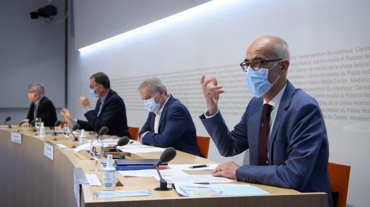 Der Bund informierte am Freitag über die aktuelle Corona-Situation in der Schweiz. (Keystone)
