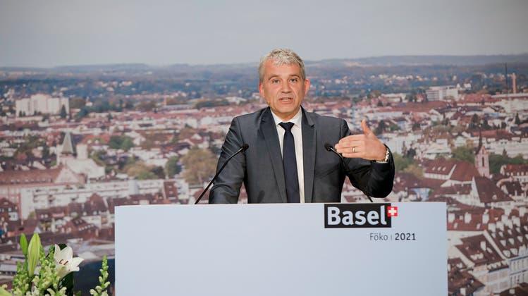 Beat Jans an der Nationalen Föderalismuskonferenz 2021. (Bild: zvg / Kanton BS)