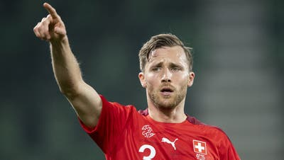 Silvan Widmer reacts during the FIFA World Cup Qatar 2022 qualifying Group C soccer match between Switzerland and Lithuania, at the kybunpark stadium in St. Gallen, Switzerland, Sunday, March 28, 2021. (KEYSTONE/Ennio Leanza) (Ennio Leanza / KEYSTONE)
