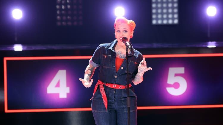 Letztes Jahr bei «The Voice Of Switzerland», singt Mary Martina Vogel aus Dürrenäsch jetzt auf RTL bei «I Can See Your Voice». (Bild: TV Now / Frank W. Hempel)