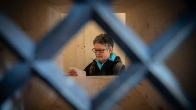 In dieser Zelle lebte Hildegard Aepli eine Woche, freiwillig eingeschlossen. (Bild: Ralph Ribi)