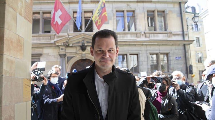 Wechselt in die Privatwirtschaft: Der ehemalige Genfer FDP-Staatsrat Pierre Maudet. (Keystone)