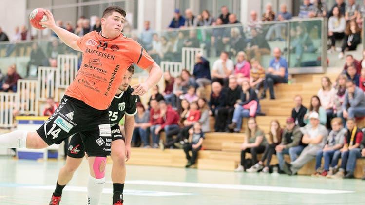 Dem TV Möhlin‒ hier gegen Schaffhausen‒ fehlte es im Angriff gegen den Tabellenletzten aus Steffisburg an Durchschlagskraft. (Bild: Michi Mahrer (11. Oktober 2020)