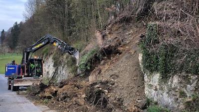 Bereits vor knapp zwei Wochen kam es zwischen Malters und Hellbühl zu einem Erdrutsch. (Bild: PD)