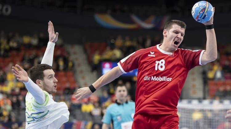 Dimitrij Küttel gehörte an der Handball-EM 2020 in Schweden zu den Stammkräften der Nati. (Keystone)